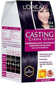 Loreal Casting Colour Chart Loreal Paris Casting Creme Gloss Plum Burgundy 316 87 5g 72ml With Ayur Product