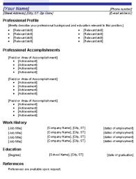 basic functional resume template