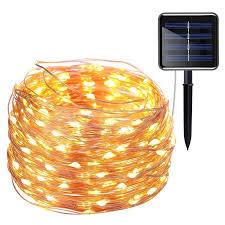 solar powered string lights 200led 8