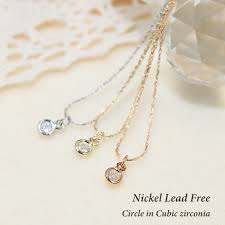 a cute mini rupe design it is a simple design ニッケルリードフリーネックレス a chain of small and small motifs simple design perfect for everyday use and