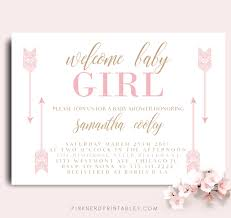 baby girl invite tribal baby shower invitation arrows baby welcome baby invitation