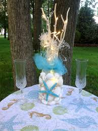 Beach Wedding Accessories Decorations Turquoise Beach Wedding Decor Starfish Shells Lighting Seashell 14
