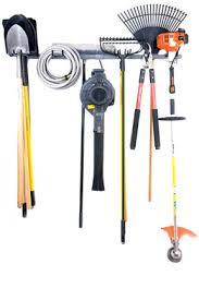 large yard tool storage rack