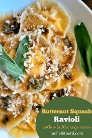 easy ernut squash ravioli with sage
