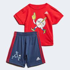 adidas <b>Комплект</b>: <b>футболка</b> и <b>шорты</b> Character - красный   adidas ...