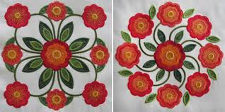 Rose of Sharon Machine Embroidery Quilt Designs & Traditions Rose of Sharon machine appliqué blocks. Adamdwight.com