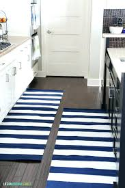 navy kitchen rug striped s black and white er check