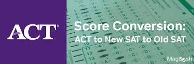 Act Conversion Act To New Sat To Old Sat Score Conversion Chart