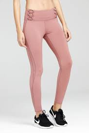 Light Pink Workout Pants Linear Mesh Leggings W Hidden Pocket