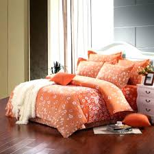 orange and white comforter bedding set light cute abstract modern country flower sets covers twin whit