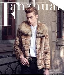 new designers brand winter leather jacket men faux fur coat luxury fashion outdoor coat jackets outerwear