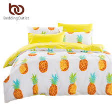 drop pineapple bedding set sweet printed fruit bedsheet soft cotton font b duvet b font