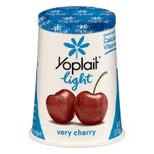 yoplait light fat free yogurt very cherry 6 oz cup