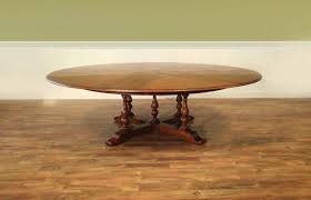 extra large round country table with leaves seats 10 12 people