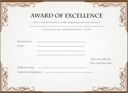 Download Award Certificate Templates Excellence Award Certificate Template Download Free