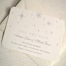 Snowflake Winter Themed Wedding Save The Date By Beautiful Day