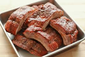 memphis style dry ribs on the grill or in the oven recipe by barefeet
