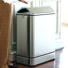 stainless steel kitchen trash can. Large Kitchen Trash Can Dual Cans Stainless . Steel