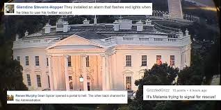 Red Lights White House Red Lights Are Coming From The White House And The Internet