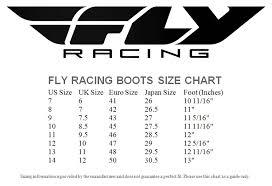 76 Cogent Falco Boots Size Chart