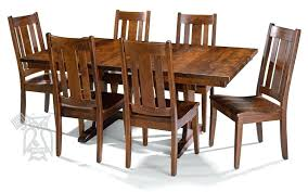 hoot judkinssan francisco amish cherry oak wood trestle dining table solid cherry dining table set best
