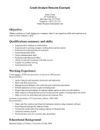 Resume For Analyst Job Sample Resume For Credit Analyst Shalomhouseus 34
