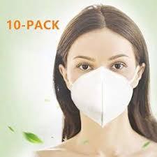 <b>10 Pcs N95 Particulate Respirator</b> Dust Masks Disposable ...
