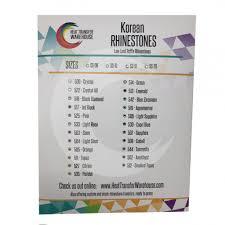 Heat Press Rhinestones Color Chart