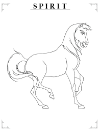 what color is spirit the horse spirit horse coloring pages to print