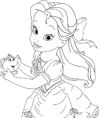 Small Picture Little Belle Coloring For Kids Princess Coloring Pages