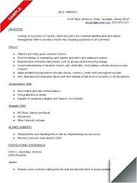 Resume Template For Cashier Resume Example Cashier Experience Cv