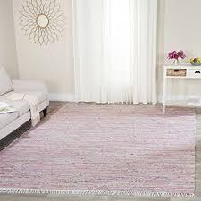 safavieh rag rug collection rar125e hand woven light pink and multi cotton area rug 4