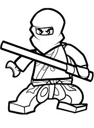 Kleurplaat Lego Ninja Met Een Lichtsabel Kleurplaatjecom