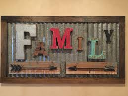 Small Picture Rustic Family Sign made from vintage letters and old corrugated