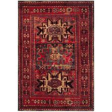 vintage hamadan red multi 7 ft x 9 ft area rug