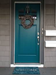 teal front door use gray shutters on the brick house too lovely by cassandra