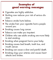 public health at a glance tobacco pack information tobacco pack info examples