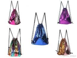 Mermaid <b>Sequin</b> Backpack <b>Sequins</b> Drawstring Bag <b>Double Sided</b> ...