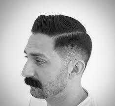hard part thin short hair look for men