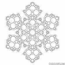 Small Picture Coloring page Fractal snowflake