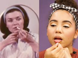 watch a 23 year old try a makeup tutorial from the 1960s
