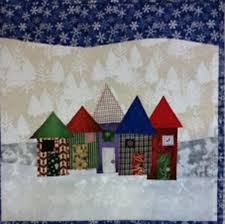 Free Quilt Patterns & Lessons, Free Clothing Patterns, Free Craft ... & Christmas Row Houses Quilt Pattern FREE-157e Adamdwight.com