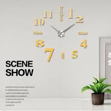 wall clock sticker home decor mirror