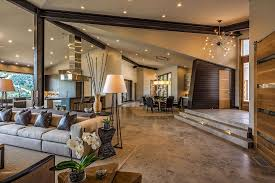 Like the idea of the living room being sunken in by a couple of