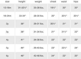 Kids Clothing Chart Www Bedowntowndaytona Com