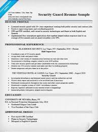 Resumes For Security Musiccityspiritsandcocktail Com