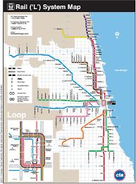 """official map chicago cta """"l"""" commuter rail   transit maps"""