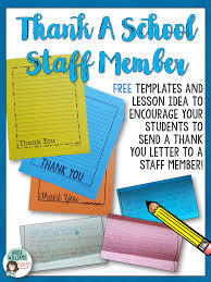 Free Thank You Letter Templates Encourage Your Students To Thank