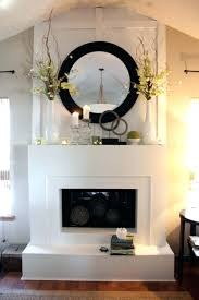 fireplace mantel mirror decorating mantels with mirrors