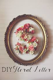 Letter S Wall Decor How To Diy This Pretty Floral Letter Floral Arrangements Flower